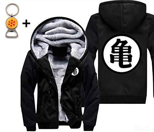 1Bar Dragon Ball Z Son Goku Mens Hoodie Fleece Interior Cosplay Plus Free DBZ Bottle Opener Keychain