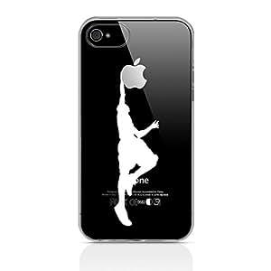 Gel Funda Ahuja Tech clavada claro para el iPhone de Apple 4S / 4 - Blanco / silueta