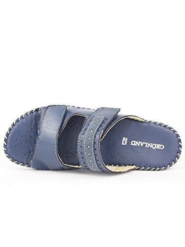 GRUNLAND - Sandalias de vestir para mujer Azul