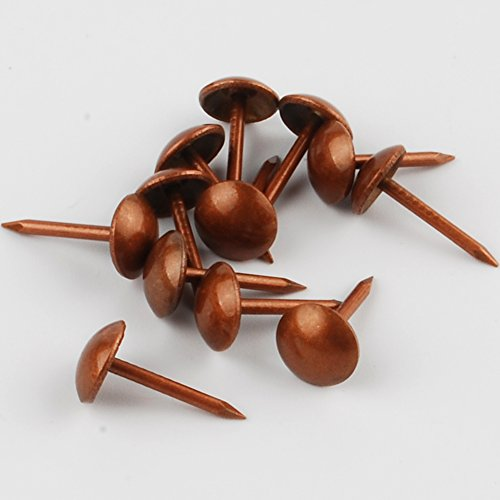 NW 200pcs Bronze Upholstery Tacks Antique Brass Furniture Nails Pins (8x15mm) from NW