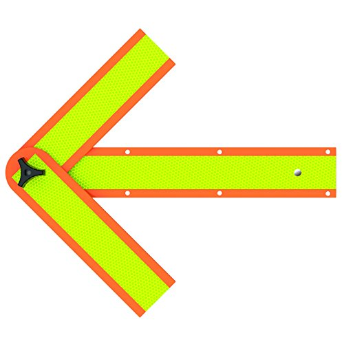 (Deflecto Roadside Emergency Reflective Safety Arrow, Magnetic and Mountable, 18
