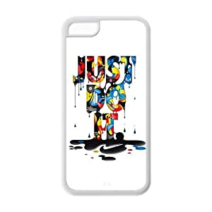 Fashion Just Do It Personalized iPhone 5C Rubber Silicone Case Cover -CCINO