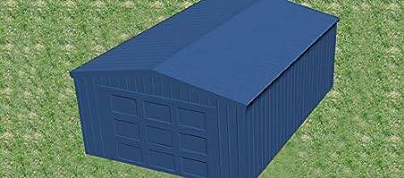 wzh Estructura de Acero para cobertizo/cochera/cochera/Tiendas de campaña/toldo para Venta, tamaño: Largo × Ancho × Alto: 20 pies × 10 pies × 8 pies: Amazon.es: Jardín