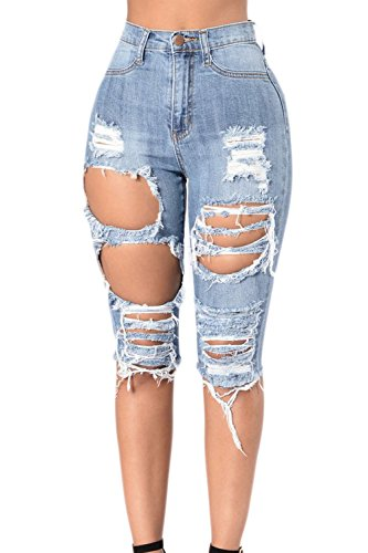 Shorts Femmes 1819 Bermudes Ami Froc Haute Taille Dchirs Jean Suvimuga Denim Stretch xqUdwUYB