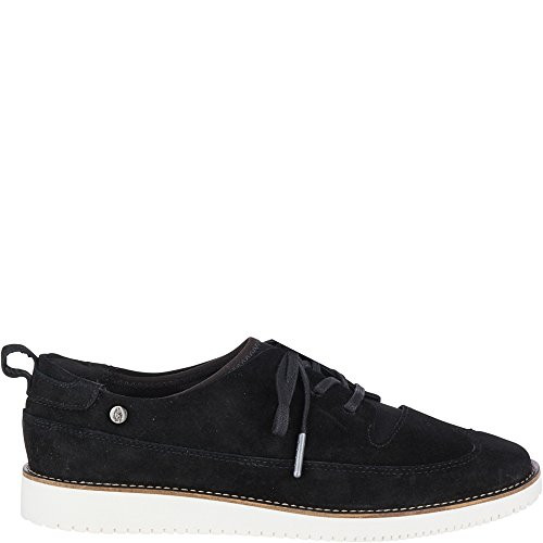 Hush Puppies Chowchow WT Oxford Women 6 Black Suede