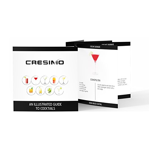 Home Cocktail Bar Set by Cresimo – Stainless Steel 7 Piece Professional Bar Tool Kit – 100% GUARANTEE AND WARRANTY. Includes Martini Shaker, Strainer, Jigger and More! by Cresimo (Image #8)
