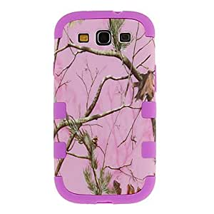 Buy Pink Tree Grain Three-in-one Back Case for Samsung S3 i9300(Assorted Color) , Purple