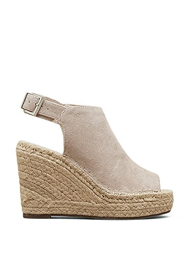 (Kenneth Cole New York Women's Olivia Espadrille Wedge Sandal Cream 9.5 M US)