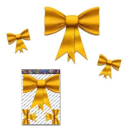 Papillon petits autocollants de voiture vinyle jaune animal - ST00027YW_SML - Stickers JAS