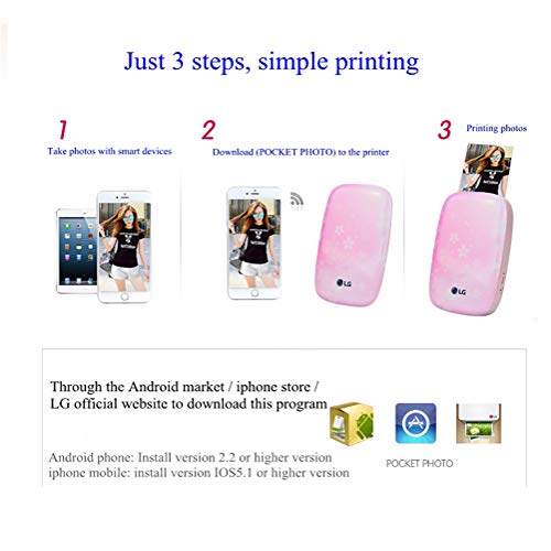 SFXYJ Mobile Phone Photo Printer Mini Portable Pocket Color Wireless Home Small Photo Print,A by SFXYJ (Image #2)