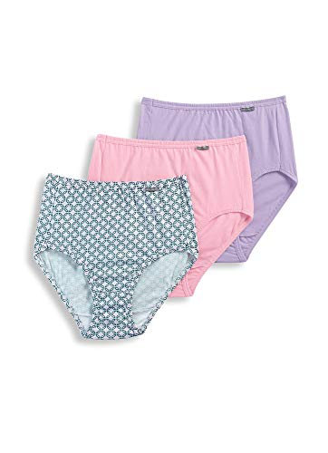 Elance 3 Pack Brief - Jockey Women's Underwear Plus Size Elance Brief - 3 Pack, Pink Tulle/Bella Tile/Cotton Plum, 11