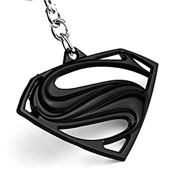 lootmloot chronowares superman logo metal black keychain amazon in