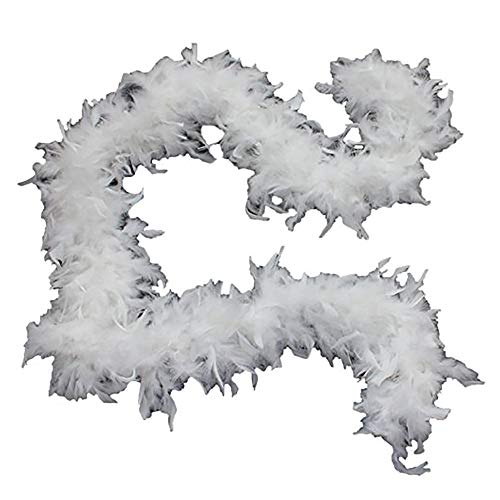 Cynthia's Feathers 65g Chandelle Feather Boas Over 80 Colors & Patterns to Pick Up (White)]()