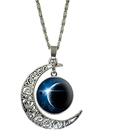 The Whimsical Witch Crescent Moon Necklace (Blue Moon) ()