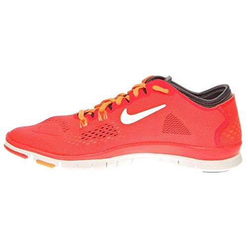 Nike Womens Free 5.0 TR Fit 4 Laser Crimson/Dark Base Grey/Atomic Mango/White 10 B - Medium Orange