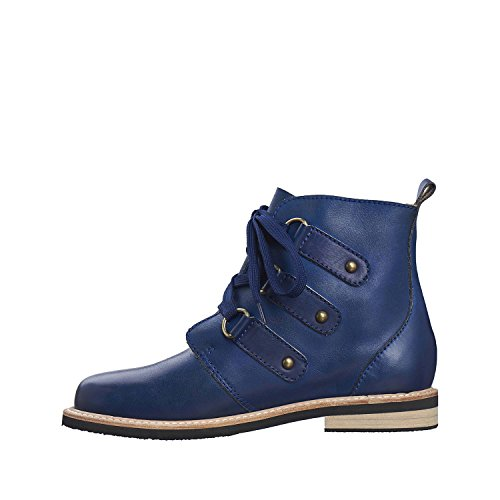 Antilope Womens 264 Bottines En Cuir Bleu