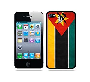 iphone covers Flag of Mozambique Grunge - Protective Designer BLACK Case - Fits Apple Iphone 6 4.7 / 4G