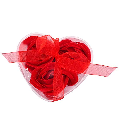 Calmson Soap Artificial Flowers Rose Flower with Gift Box Heart Shaped for Valentine's Day DIY Wedding Bouquets Arrangements Party Baby Shower Home Decorations -