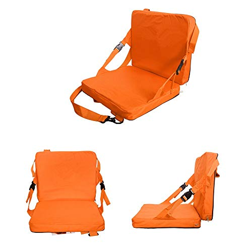 COCO Portable Stadium Seat,Basketball Football Game Boat Seat Cushion for Tennessee Fans (Orange) ()