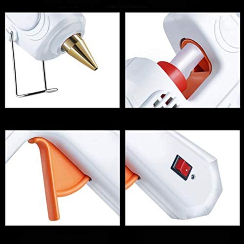 Xing zhe ホットメルトグルーガン、60-100W高温重い温度ガンキット、白世帯の成人した子供30透明スティックのり、色のスティックのり、多機能迅速な修理、 贈り物 (Color : C)