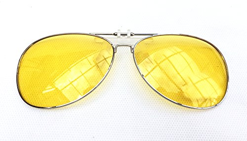 Polarized Polaroid Glasses Clip-on Sunglasses Lenses for Short-sighted People Driving Fishing Outdoor Sport Travelling (Yellow/Night - Night Glasses Polaroid Driving
