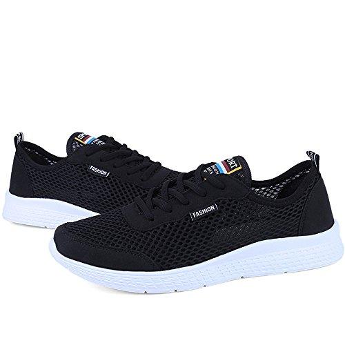 Athlétiques De Eu Noir color Yajie 50 Légères Noir Hommes Pour Taille shoes Course Chaussures 17qUTZ