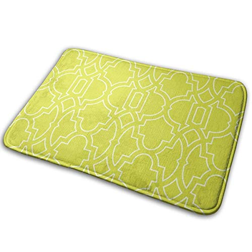 (Indoor Door Mat with Non Slip Backing,Tiffany Trellis Bold Outline Easy Clean Outdoor Doormats,Waterproof Low Profile Modern Aqua Runners Area Rug,24x16 in)