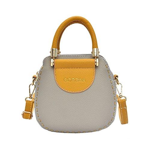 Shoppers y y mano hombro clutches Mujer bandolera de Gris de Bolsos bolsos Carteras Odwx6xqf