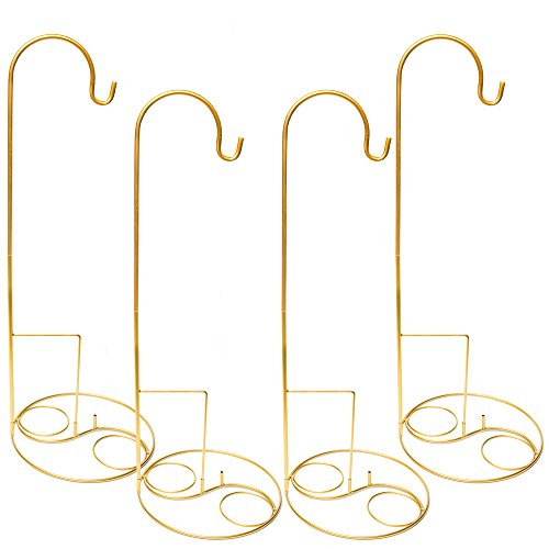 Eastland Gold Shepherd Hooks and Gold Swirl Shepherd Hook Base 48'' Set of 40 by Eastland