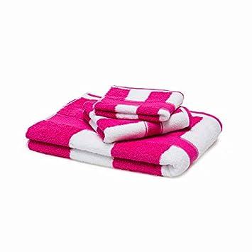 BB.er Juego de Toallas de baño de algodón Juego de Toallas absorbentes de algodón Grueso, Color Rojo Rosa: Amazon.es: Hogar