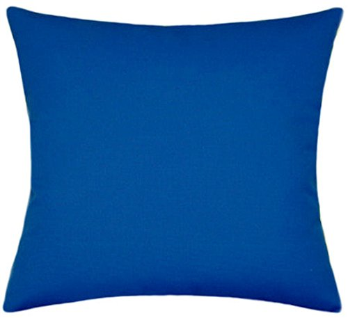 Sunbrella Pacific Blue Indoor/Outdoor Solid Patio Pillow 16x16 by TPO Design