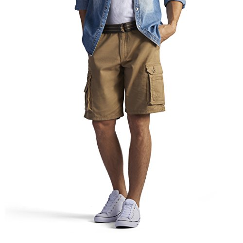 Lee Men's New Belted Wyoming Cargo Short, Bourbon, ()