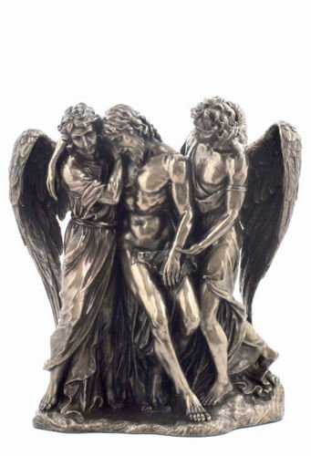 Jesus Christ Supported By Angels Statue Sculpture Figurine