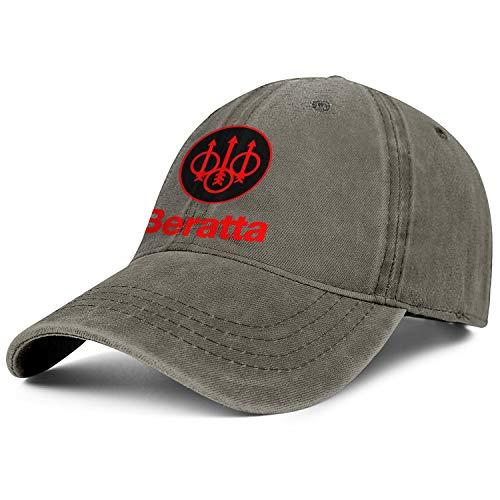 - Red Beretta Logo Women Men Jeans Caps Classic Baseball Flat Hats