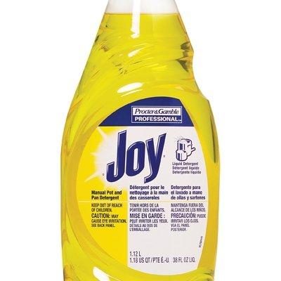 Dishwashing Detergent Degreaser from Joy Professional, Bulk Pot, Pan and Dish Liquid Soap for Commercial Restauran Kitchen Uses, Lemon Scent, 38 oz. (Case of 8)