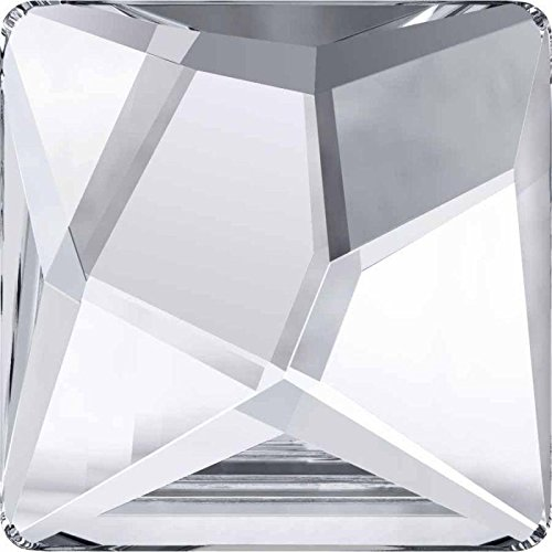2420 Swarovski Flatback Crystals Non Hotfix Asymmetric Square | Crystal Comet Argent Light V | 10mm - Pack of 8 | Small & Wholesale Packs