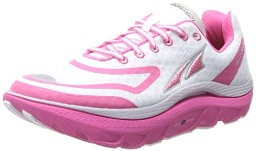 Altra Women's Paradigm Max Cushion Running Shoe,White/Pink,12 M US