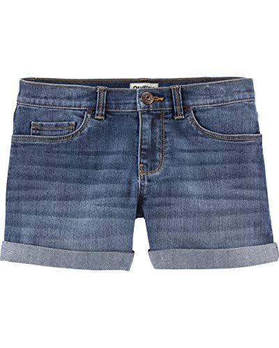 Girls Blue Denim Shorts - Osh Kosh Girls' Little Denim Shorts, Oceana Blue Wash, 8