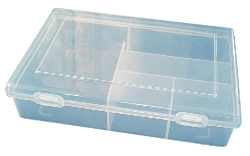 Small Clear Plastic Specialty Multipurpose Organizer with 5 Various Sized Compartments