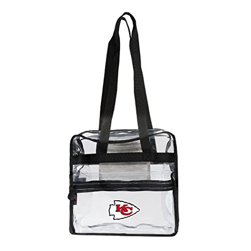 The Northwest Company NFL Kansas City Chiefs Zone Stadium Friendly Tote Clear Zone Stadium Friendly Tote, Clear, One -