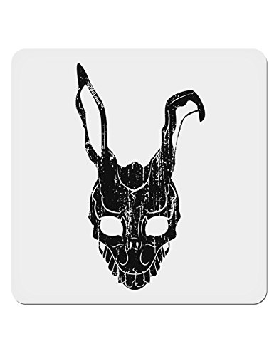 TooLoud Scary Bunny Face Black Distressed 4x4