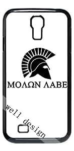 Molon Labe HD image case for Samsung Galaxy S4 I9500 black + Card Sticker