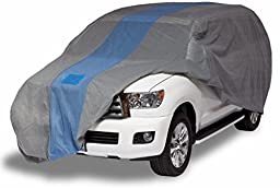 Duck Covers A1SUV229 Defender SUV Cover for SUVs/Pickup Trucks with Shell or Bed Cap up to 19\' 1\