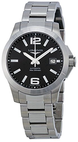 Longines Conquest Black Dial Stainless Steel Mens Watch L36764586