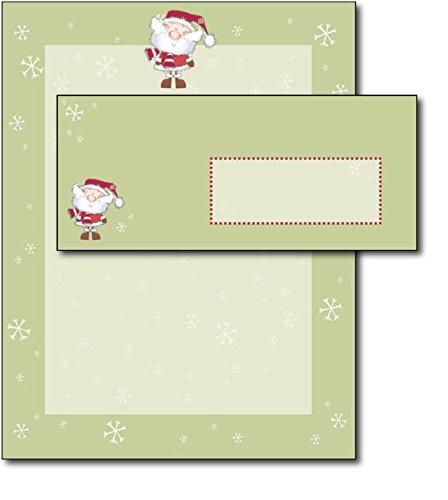 Merry Christmas Santa Holiday Letterhead & Envelopes - 40 (Christmas Envelope)