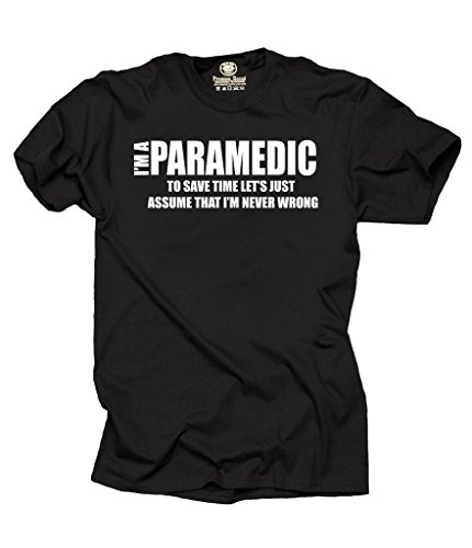 cc568675 I Am Paramedic T-Shirt Funny Profession Tee Shirt Large Black - Buy Online  in Oman. | Apparel Products in Oman - See Prices, Reviews and Free Delivery  in ...