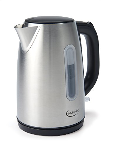 Betty Crocker BC-2855C 1.7 L Cordless Kettle in Stainless Steel, Silver
