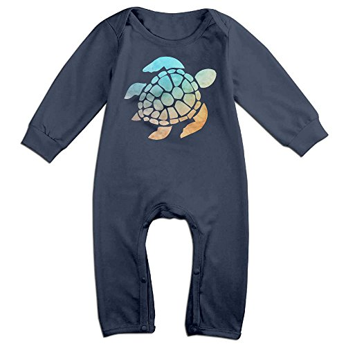 Ab Soul Costume (Boy & Girl Infants Space Watercolour Turtle Long Sleeve Climb Jumpsuit 24 Months Navy)