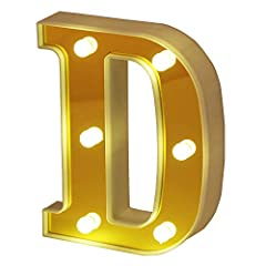 """Spell any name or phrase with these magical lighting letters! Using this lighting letter to spell out information such as """"HOME"""" in the family, """"LOVE"""" at the wedding, or add abbreviations in your child's room, and spell """"Happy Birthday"""" on yo..."""