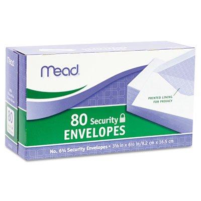 Meadwestvaco Security Envelopes - MeadWestvaco 75212 Security Envelopes, No. 6-3/4, 80/PK, White